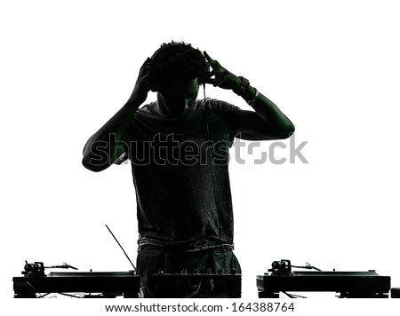 Dj Silhouette Stock Images, Royalty-Free Images & Vectors ...