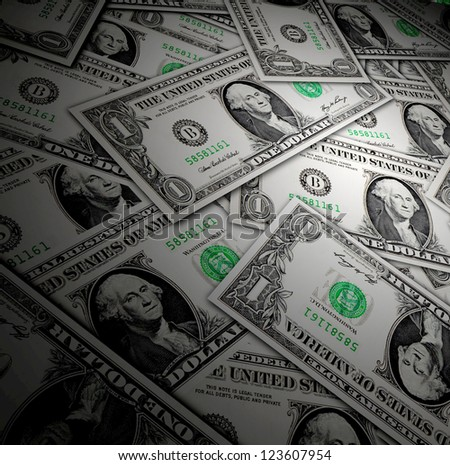 One dollar bank note background - investment concept