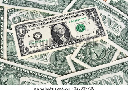 One dollar banknotes