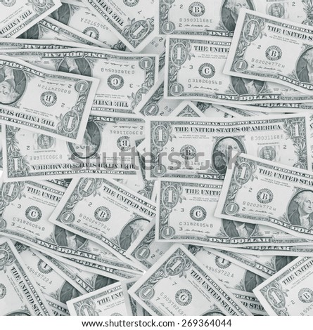One dollar bill, Financial background - stock photo