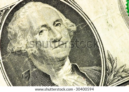 one dollar closeup - george washington - stock photo