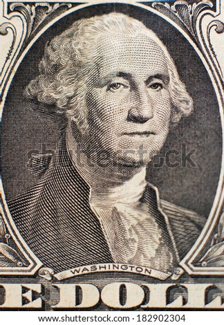 One dollar portrait of Washington