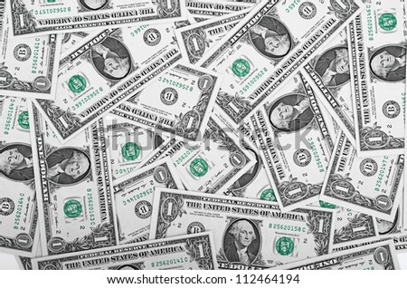 one Dollars background - stock photo