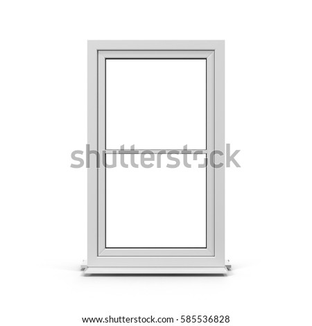 One door plastic window isolated on white. 3D illustration  sc 1 st  Shutterstock & Windows And Doors Stock Images Royalty-Free Images u0026 Vectors ... pezcame.com