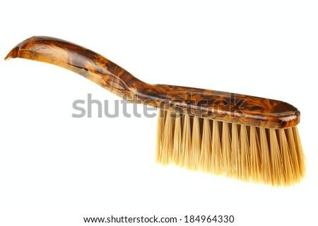 One dust brush isolated on white background - stock photo