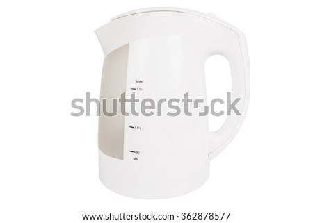 One electric kettle isolated on white background