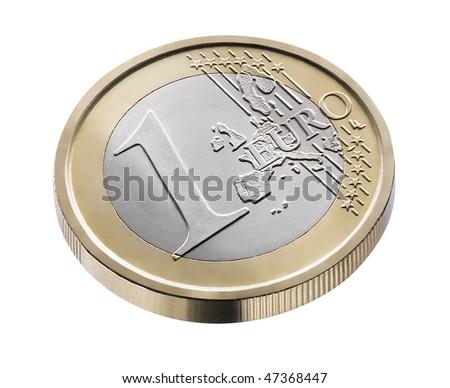 one euro - stock photo