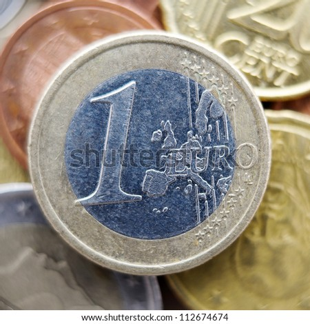 One euro coin. - stock photo