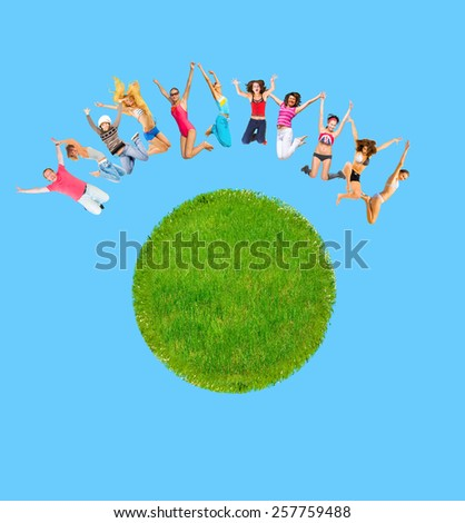 One Family People of Earth  - stock photo