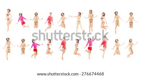 One Girl Team Girl Active  - stock photo