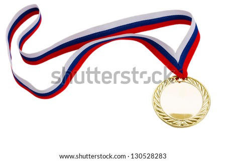 one golde? medal isolated on white background