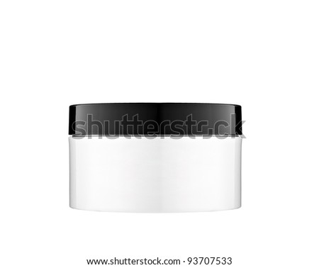 One  hand cream box with blank space - stock photo