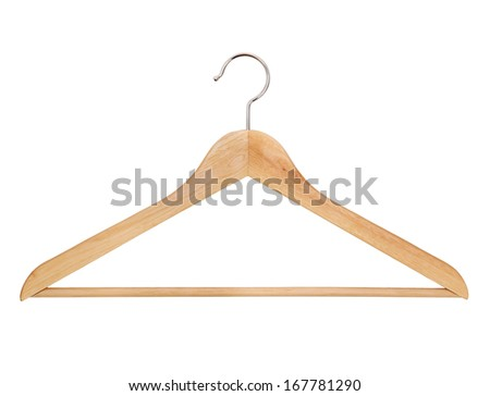 One hanger on a white background, isolated