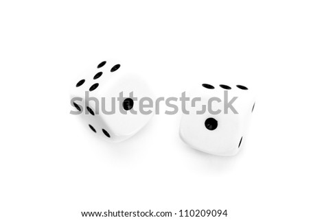 One horizontal blue foot print against a white background - stock photo