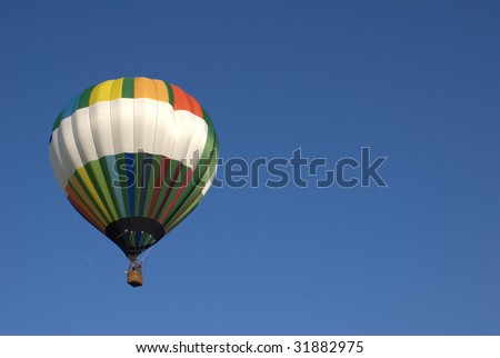 one hot air colorful hot air balloon - stock photo