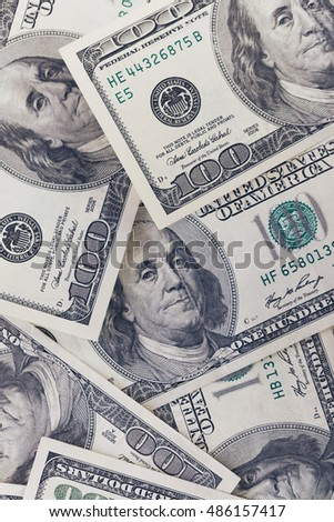 One hundred dollar bill background