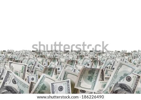 One hundred dollar farm, isolated on white background. - stock photo