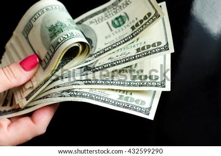 one hundred dollars - stock photo
