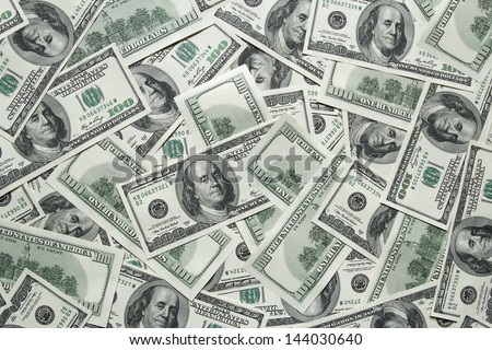 one hundred dollars background - stock photo