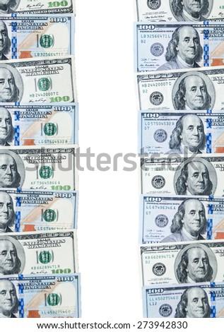 one hundred dollars  isolated on white background - stock photo