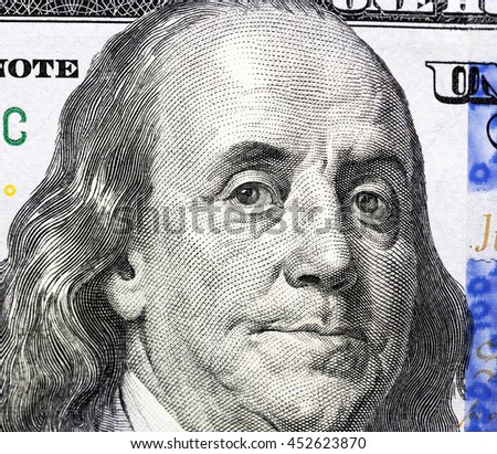 one hundred US dollars  - stock photo