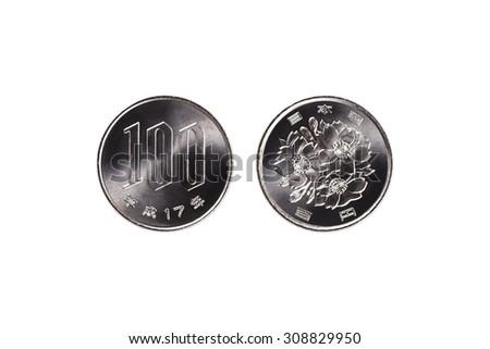 one hundred yen - stock photo