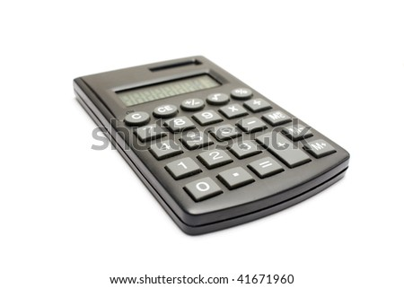 One isolated calculator in a white background