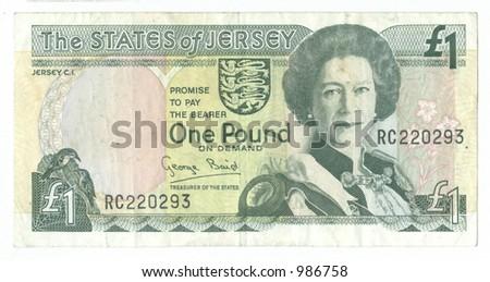 One Jersey Pound - stock photo