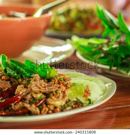 One kind of food popular for Thai people and foreigner - stock photo