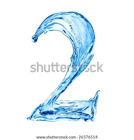 One letter of water alphabet - stock photo