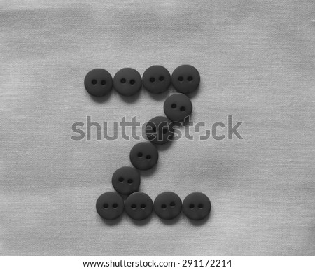 one letter V, black and white                 - stock photo