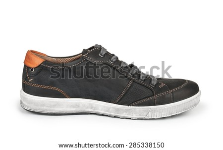 one male sports shoes isolated on white background