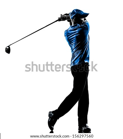 Golf Swing Logo Golf Swing in Silhouette