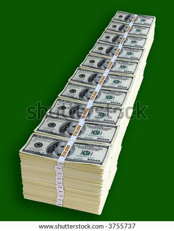 One million dollars - stock photo