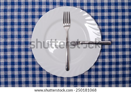 One more please - table manners  - stock photo