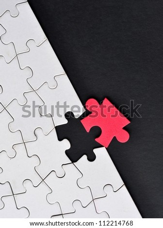One odd piece of  puzzle - stock photo
