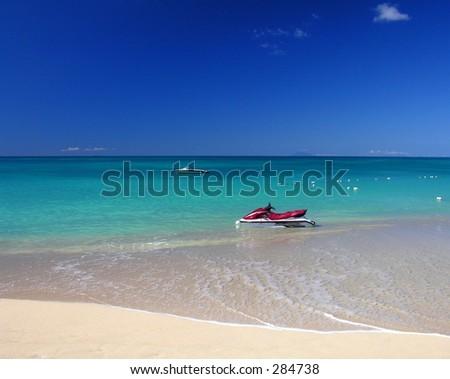 One of 365 beaches at the caribbean island Antigua... - stock photo