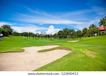 One of many Golf course on the  Bali. Indonesia.