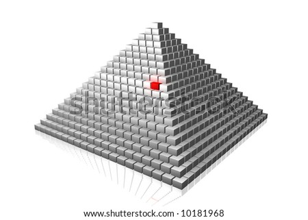 One of many (pyramid) - stock photo
