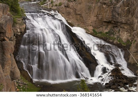 One of many small waterfalls   - stock photo