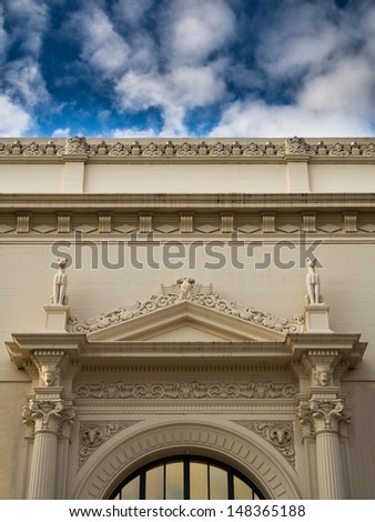 One of museums in Balboa park, San Diego. - stock photo