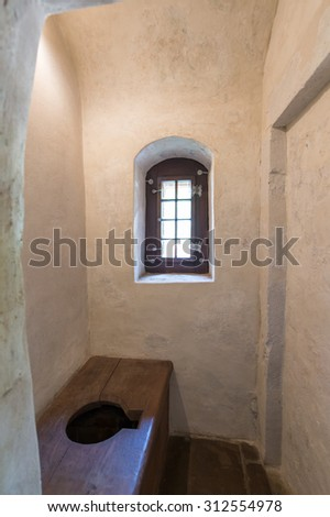 One of room of  the teutonic castle in Malbork used as WC.