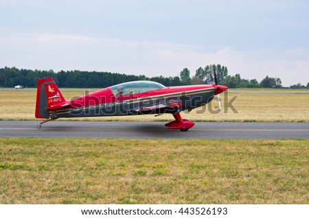 One of Royal Jordanian Falcons, Radom, Poland - August 23, 2015: . Airshow event on 23 August 2015, Radom, Poland