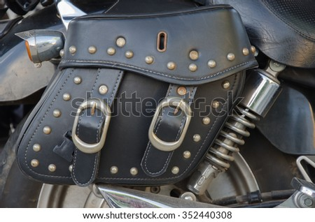 One of the big old motorcycle components, selected focus point. - stock photo