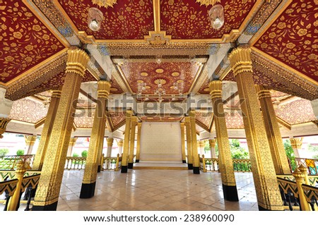 One of the Buddha temple in Bangkok, Thailand. - stock photo