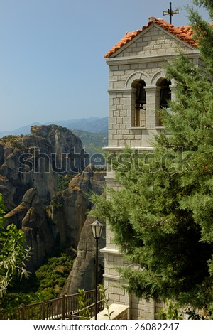 One of the famous Meteora monasteries in Greece