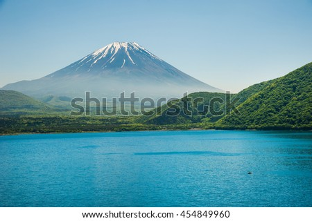 One of The Fuji five lake landmark, beautiful landscape, Yamanashi, Japan. - stock photo