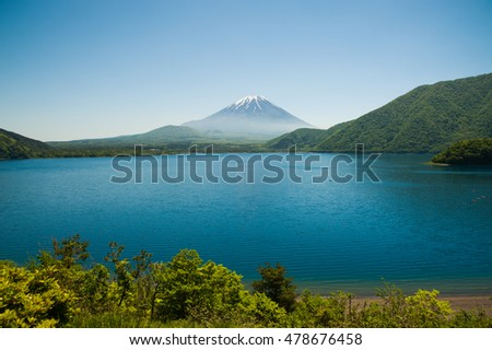 One of The Fuji five lake landmark name is Motosu, Yamanashi, Japan.