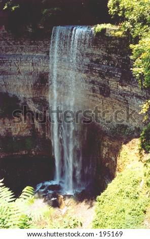 One of the highest waterfall near Hamilton, ONT,Canada - stock photo