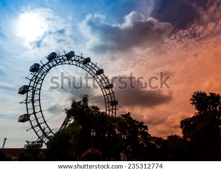one of the landmarks of vienna in austria is the riesenrad in the prater
